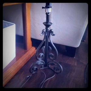 Other - Cast iron table lamp, three way switch